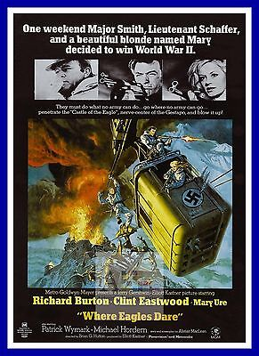 Where Eagles Dare 3   War Movie Posters Classic Films