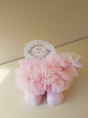 Couche Tot Baby Girls  Spanish Tutu Socks & Headband Bnwt £8.99