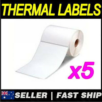 5 x500 Thermal Label 100x152mm 4x6 for Fastway  AusPOST eParcel (Ribbon require)