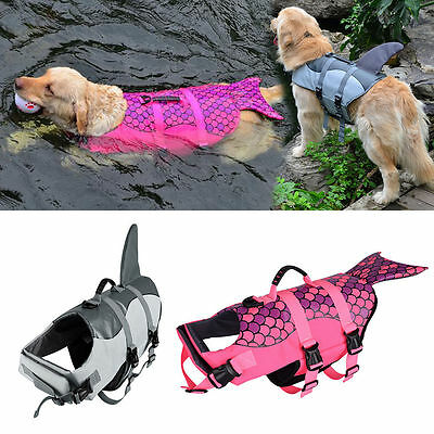 Petacc Dog Life Jacket Shark Large Pet Float Coat Dog Lifesaver Dog Safety Vest