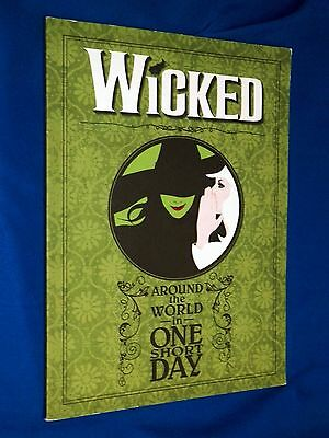 Wicked Play World Tour Program Souvenir Play Bill Booklet Wizard of Oz Witches