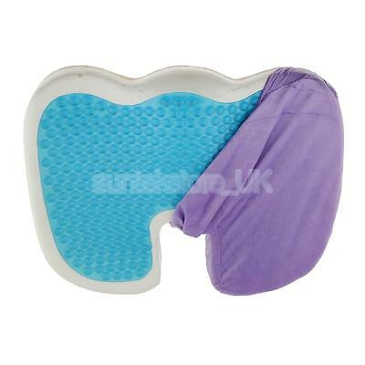 Coccyx Memory Foam Seat Cushion Orthopaedic Cooling Gel Pad Back Pain Relief