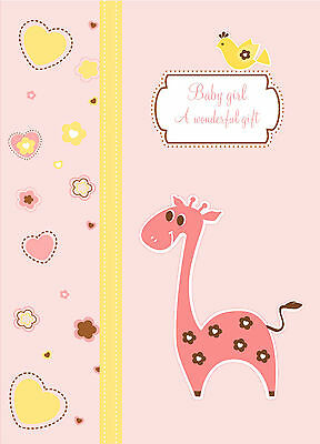 HARDCOVER baby girl memory book up to 4 years of age (cute animals and designs)