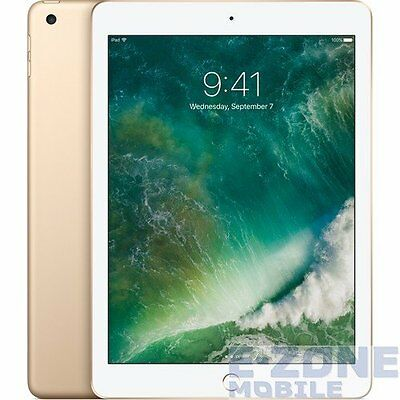 "Apple  iPad (2017) WiFi  Gold   9.7"" 128GB  Unlocked Tablet"
