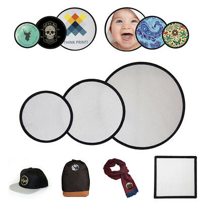 Blank Sublimation Patches apply to: Cap / Hat / Scarf / Bag / T-Shirt / Wallet