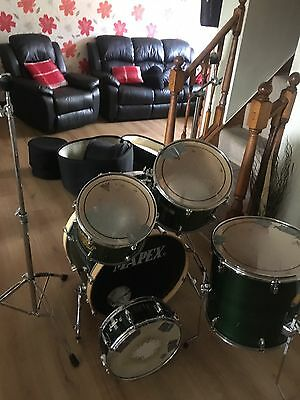 Mapex m series drum kit with stands