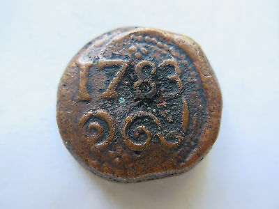 1783 NETHERLANDS EAST INDIES or BATAVIAN REPUBLIC COPPER 2 STUIVER ? NICE COND