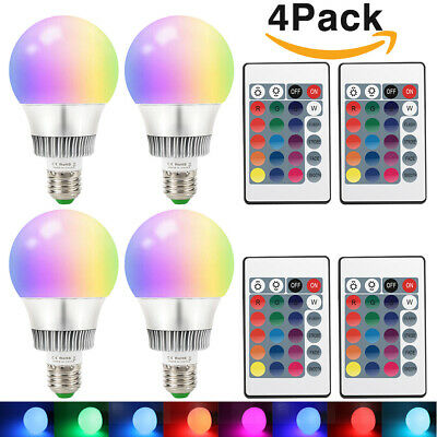 Dimmable 6W LED Spot Light Bulbs 16 Color Changing Lamp RGB IR Remote Control