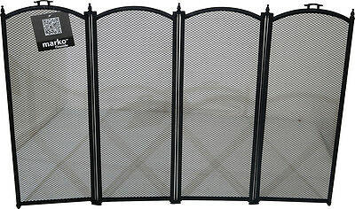 Folding Fireguard Firescreen Fireplace Screen Safety Fire Guard Screen Mesh