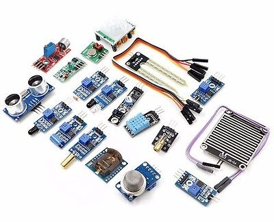 16Pcs Sensor Module Kit Laser Ultrasonic For Raspberry Pi 2 Pi2 Pi3 Arduino, US