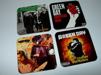 Green Day Album Cover COASTER Set