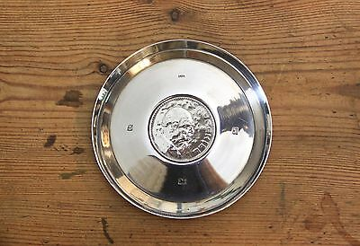 Winston Churchill crown coin rare sterling silver pin / key dish hallmarked 83g