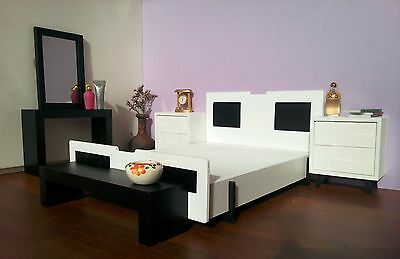 Bedroom Diorama,Fashion Royalty Style 1:6 scale,Dollhouse Miniature Furniture