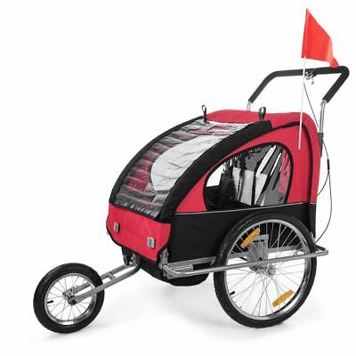 Jogger Children Bike Trailer 2in1 Stroller Suspension Child Kids Transport SAMAX