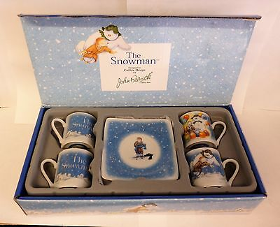 Box of 4 Beswick The Snowman cups & saucers boxed.