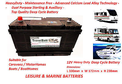 12V 120AH (110AH) TB30MF Deep Cycle Leisure Battery Motorhome Caravan Campervan