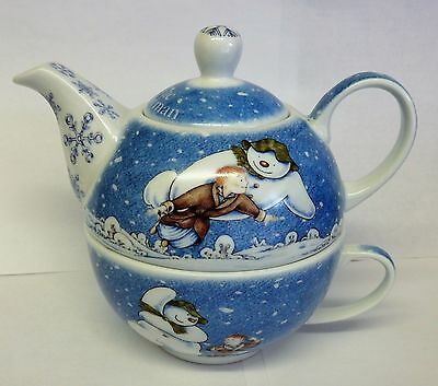 Beswick The Snowman tea pot with cup.
