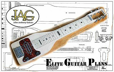 Luthiers Project Plan/Drawing for JAG RETROGLIDE Lap Steel guitar  P017