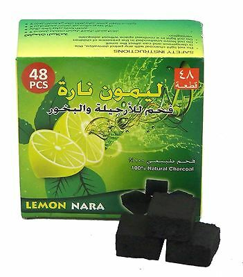Lemon Nara Charcoal 48pcs Coco Coconut Charcoal Hookah Shisha Nargila Coal