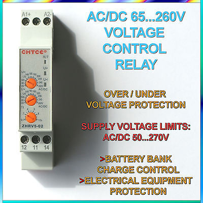 65V...260V Range AC/DC Protective Relay Against Over / Under Voltage 65V...260V