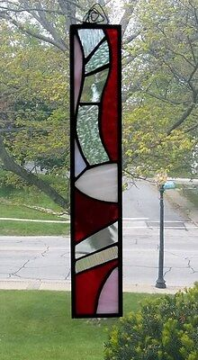 stained glass, abstract, suncatcher, hand crafted, stain glass, leaded glass