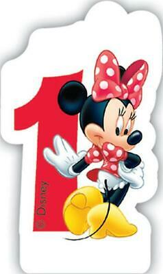 Minnie Mouse Number 1 Shaped Birthday Cake Candle