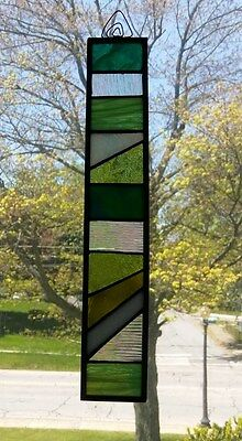 stained glass,abstract,suncatcher,hand crafted,leaded glass,art deco,geometric