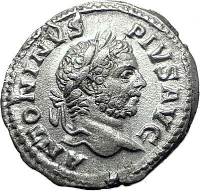 CARACALLA 210AD Rome Silver Genuine Authentic Ancient Roman Coin VIRTUS i61498