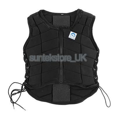 Safety Breathable Equestrian Vest Back Body Guard Protector for Kids Size L
