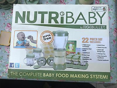 Nutribaby By MagicBullet, Fully Boxed With Instructions