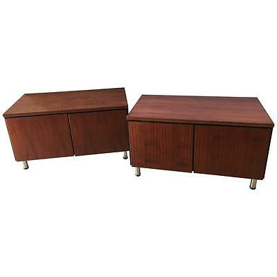Pair of Mid-Century Modern Rosewood with Chrome Feet Chests(101-2502)