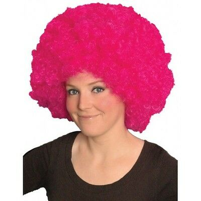 Pink Afro Haar Perücke Brustkrebs Run For Life Rennen FunTheme Hen Party
