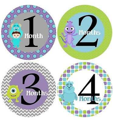Monthly Baby Sticker, Milestone Stickers, Monsters Inc- #154Bab