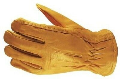 Wells Lamont Size Large Premium Leather Work Gloves 3 Pair Pack, Yellow