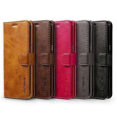 Luxury Ultra Thin Leather Flip Wallet Case Cover For Samsung Galaxy Phones