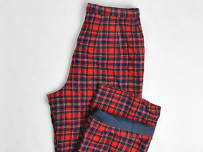 Pendleton Womens Wool Pants Plaid Nylon Lining VTG USA Size 12 (28X30)
