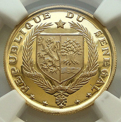 SENEGAL 10 Francs 1968 PF68 Ultra Cameo 8TH INDEPENDENCE ANNIVERSARY