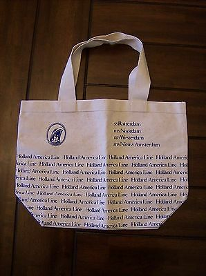 Holland America Line Canvas Toat Bag 100% Cotton