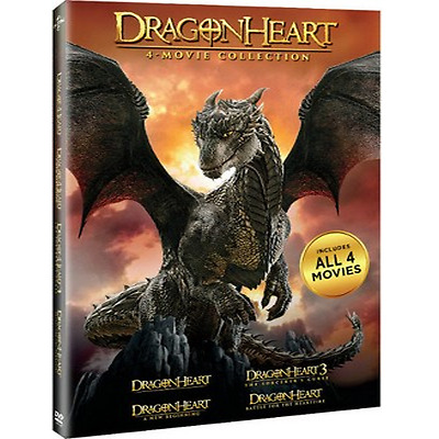 Dragonheart: Complete Fantasy Movie Series 1 2 3 4 Collection Box / DVD Set NEW!