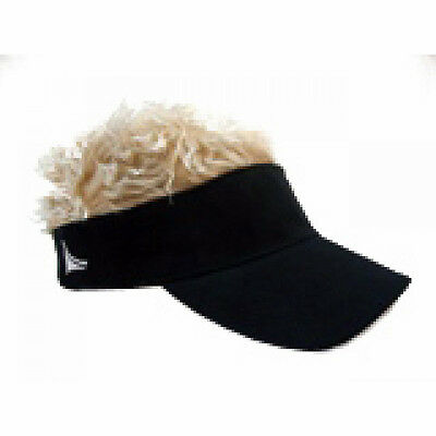 Flair Hair Hats With Hair Black Visor Blonde Hair Quality Surf Skate Snow Golf