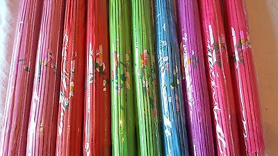 Joblot of 10 Chinese Silk & Bamboo Umbrella Parasol New Wholesale