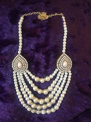 Indian Multilayered Pearl Necklace|Elegant| Indian Jewellery Set With Earrings