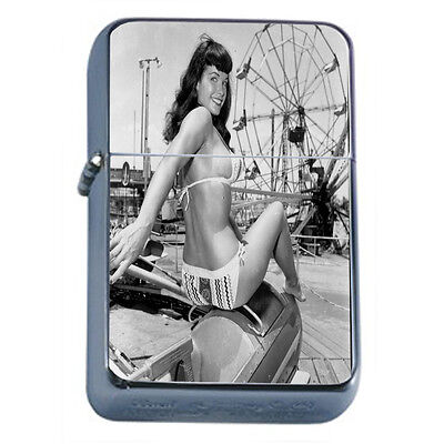 Bad Girl Pin Up D17 Windproof Dual Flame Torch Lighter Refillable