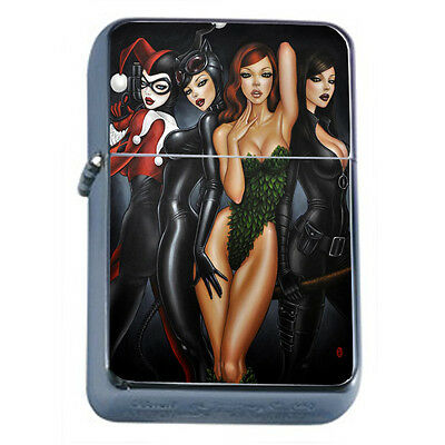 Bad Girl Pin Up D18 Windproof Dual Flame Torch Lighter Refillable