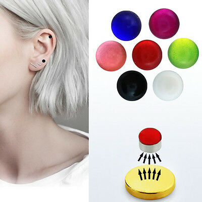 1-4PC Set 3mm Fake Magnet UV Color Nose Ear Lip Stud Illusion Non Piercing Ball
