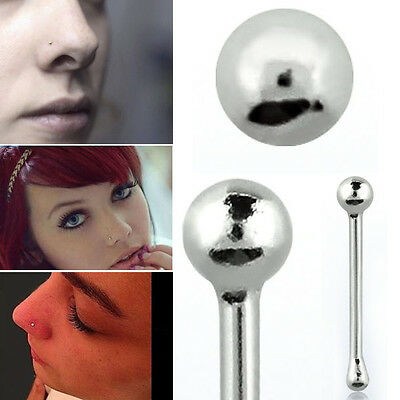 Black Retainer Nose Bone 22 Gauge 06mm Flexible 15mm Ball Top