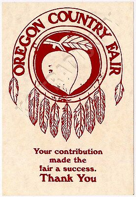 Oregon Country Fair - Thank You Postcards - Feather Shield