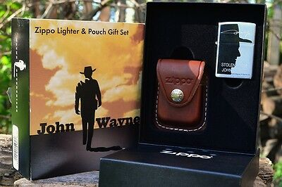 Zippo Lighter & Pouch Set - Stolen From John Wayne - Limited Edition - # 24209