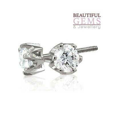 Stud Earrings With 1/2 Carat Tdw Of Diamonds In 18Ct White Gold - 183465117