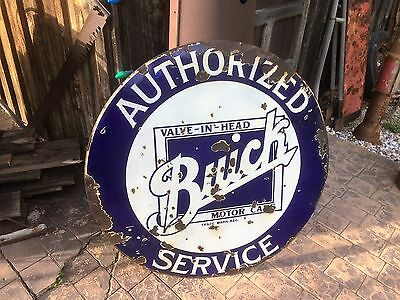 Old Original Dealership  Buick Service Porcelain Advertising Sign Not Neon Chevy